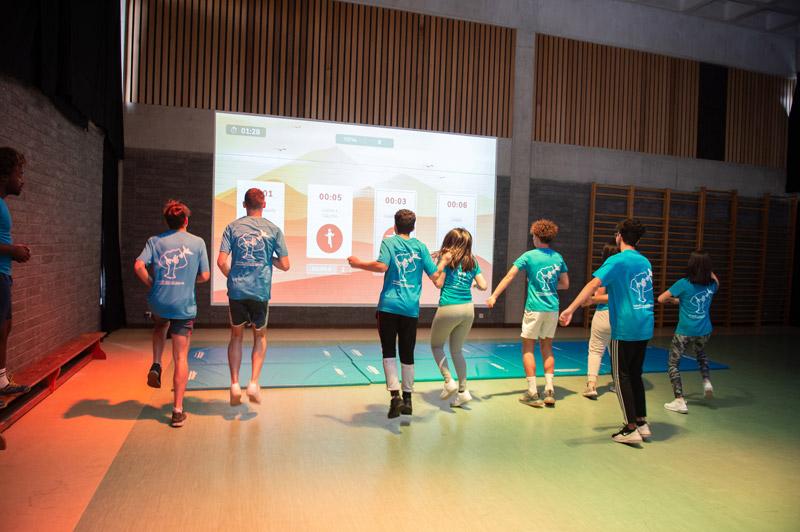 Activité sportive avec les élèves de l'Athénée Royale de Fragnée